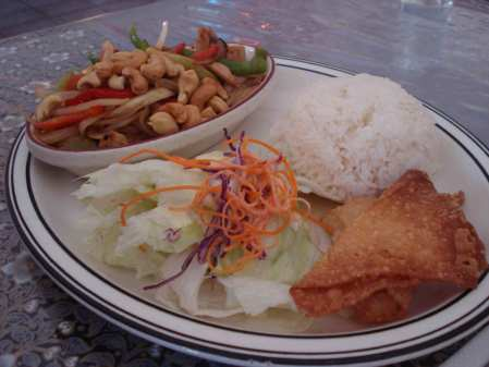 Cashew Nut lunch special at Thai City
